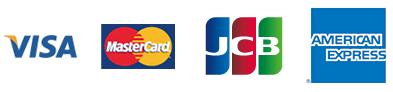 クレジット決済(VISA、MASTER、JCB、AMEX)